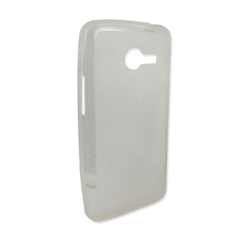 Delcell Silicon Ultra Thin Zenfone 4 Hitam Transparan Casing