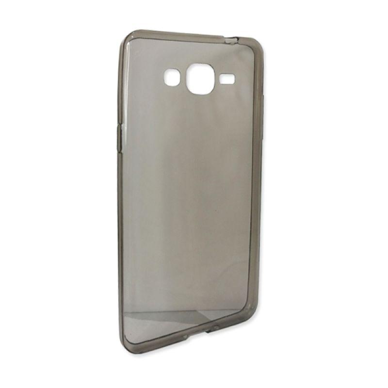 Delcell Slim TPU Case For Samsung Galaxy Garand Prime Hitam Transparan - Casing