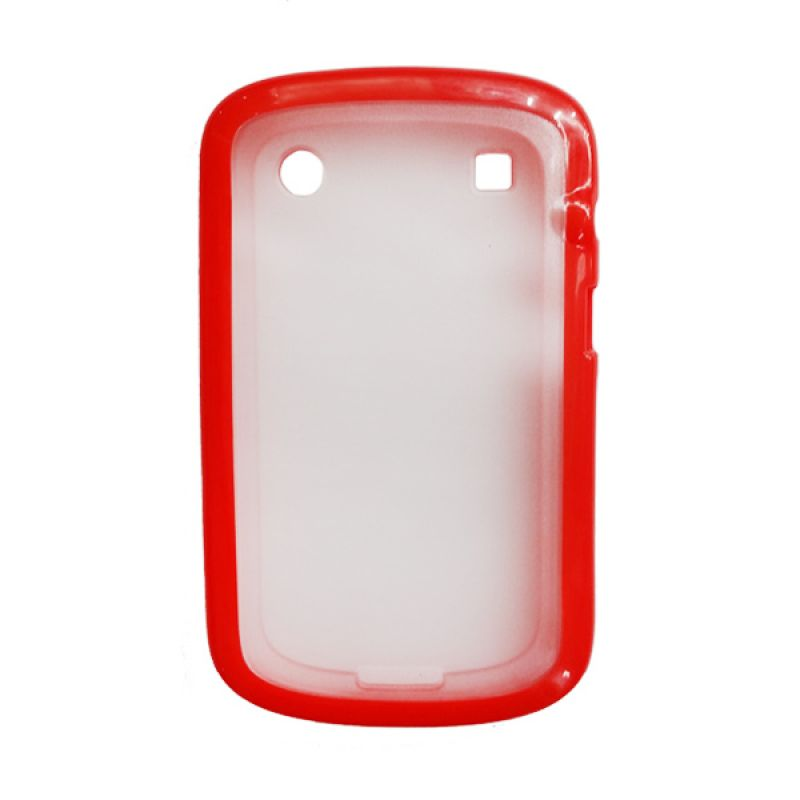Delcell Soft Case Jelly for BlackBerry 9930/9900 Merah
