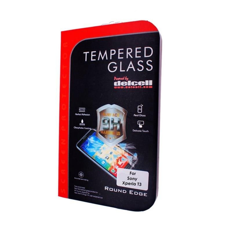 Delcell Sony Xperia T3 Tempered Glass Screen Protector