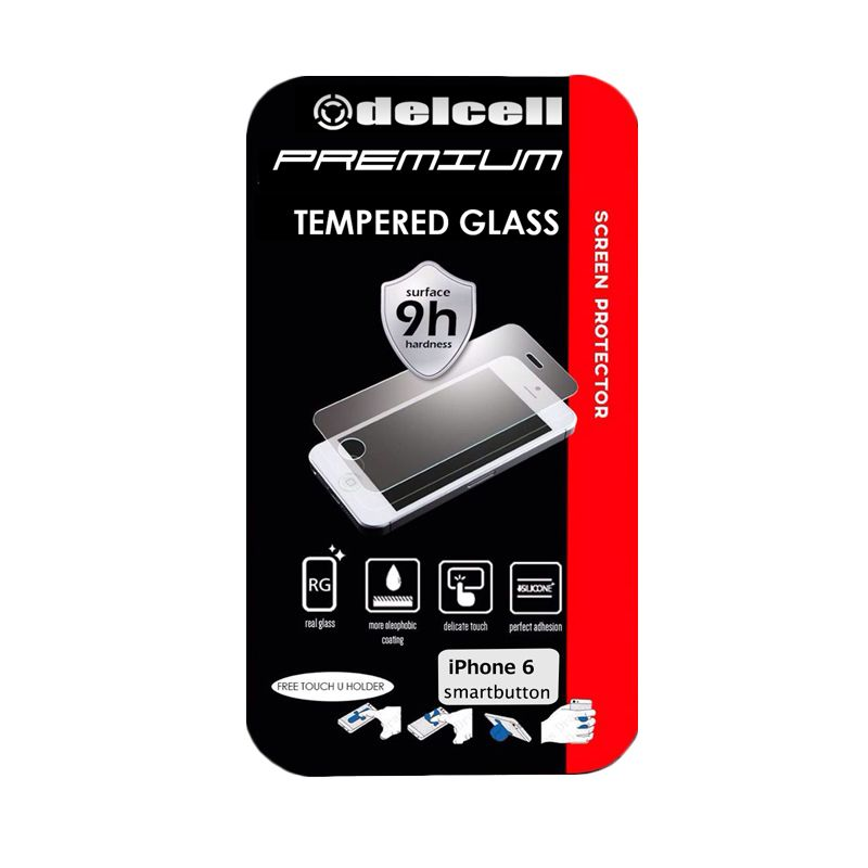 Delcell Premium Tempered Glass Screen Protector for iPhone 6