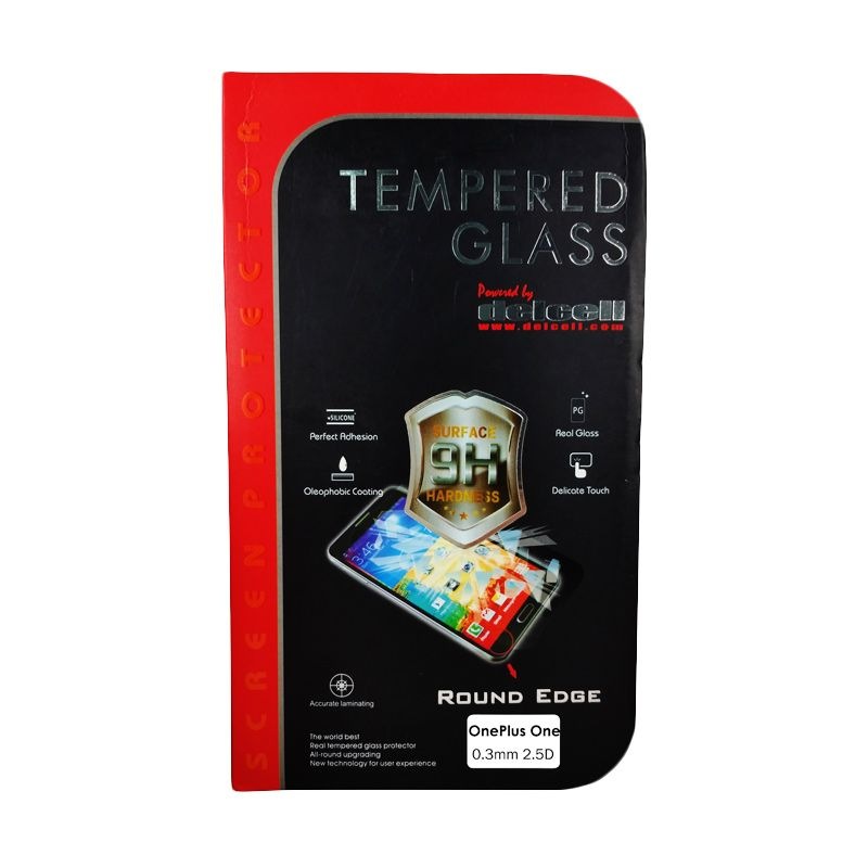 Delcell Tempered Glass Screen Protector for One Plus One