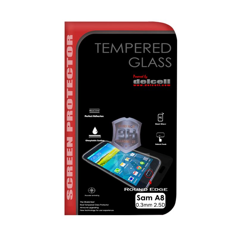Delcell Tempered Glass Screen Protector for Samsung Galaxy A8