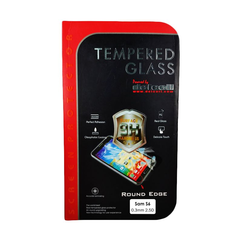 Delcell Tempered Glass Screen Protector for Samsung S6