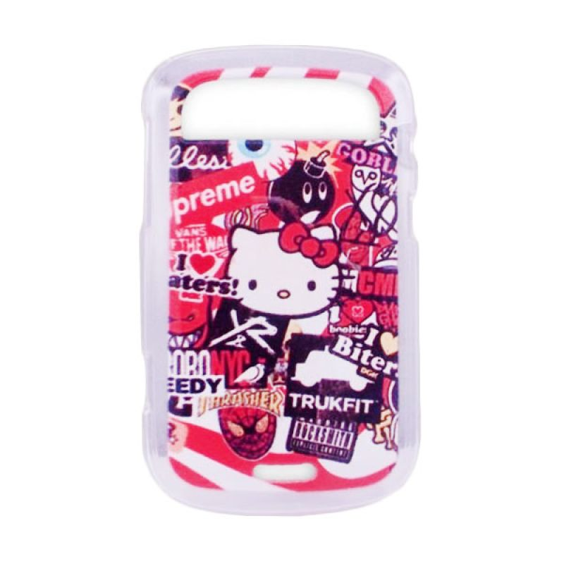 Delcell TPU Case for Blackberry 9900 Gambar Hello Kitty 002