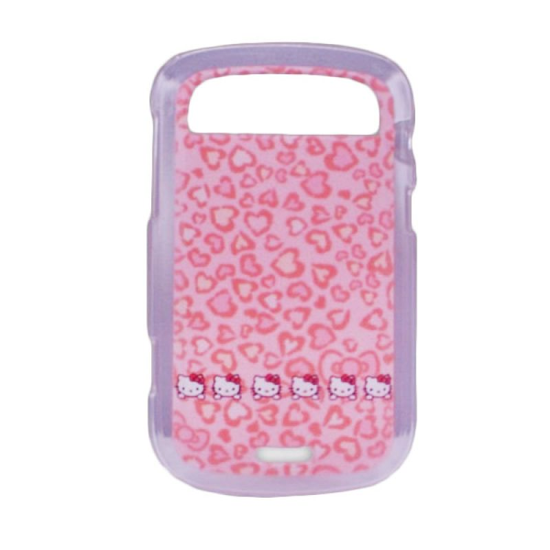 Delcell TPU Case for Blackberry 9900 Motif Heart Kitty