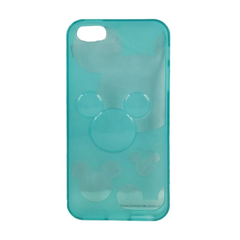 delcell TPU Mickey Character Hijau Tosca Casing for iPhone 5