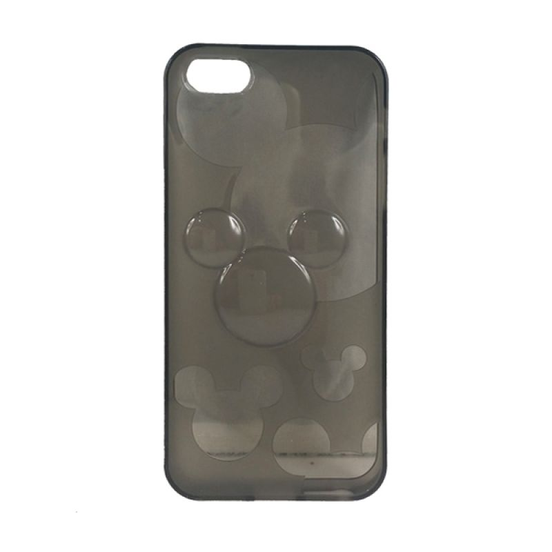 delcell TPU Mickey Character Hitam Casing for iPhone 5