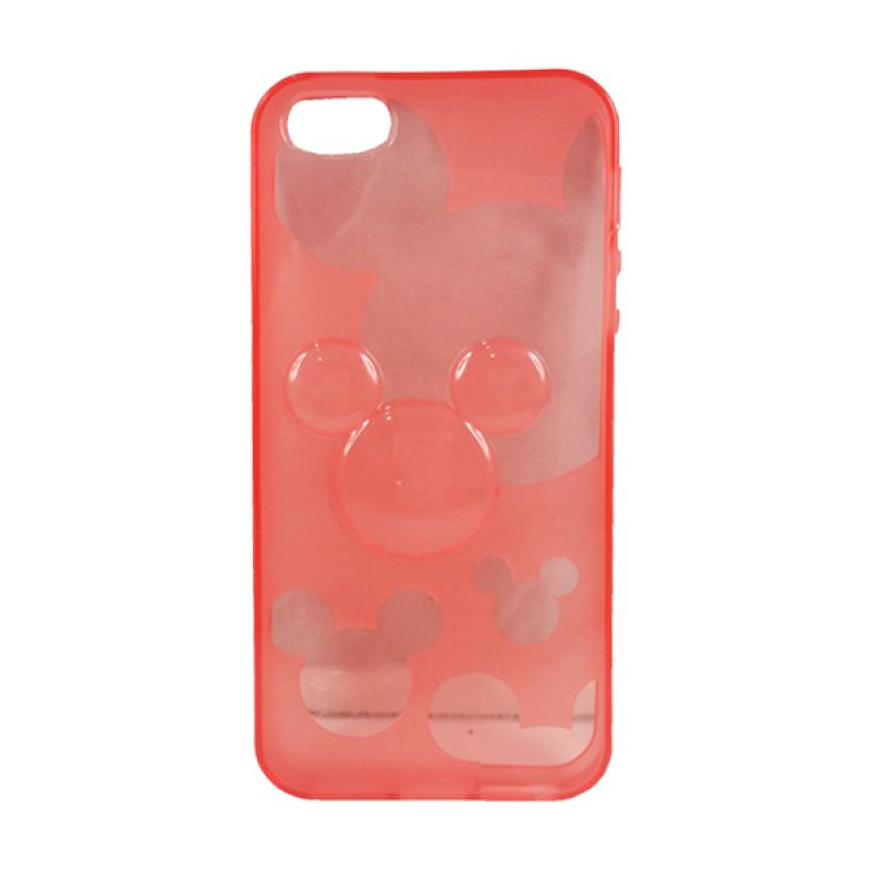 delcell TPU Mickey Character Merah Casing for iPhone 5