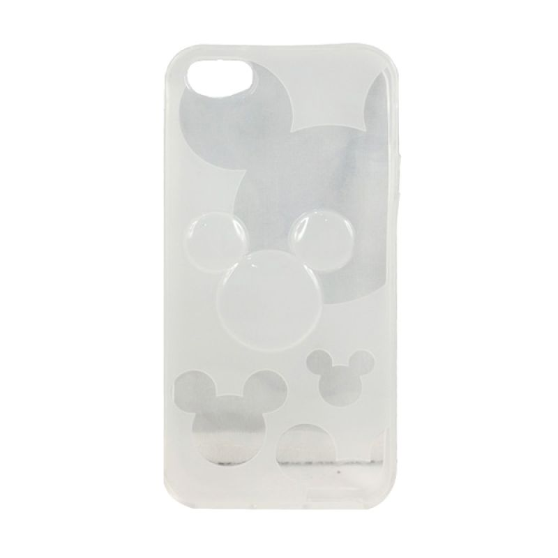 delcell TPU Mickey Character Putih Casing for iPhone 5