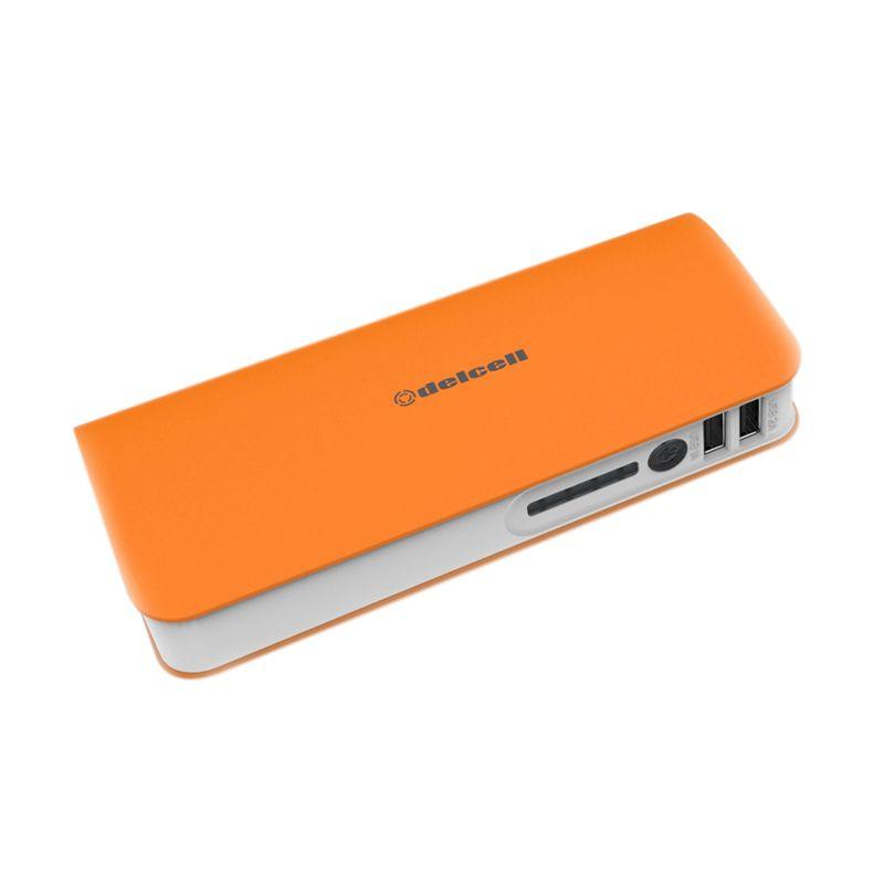 Delcell TURBO Orange Putih Powerbank [10000 mAh]