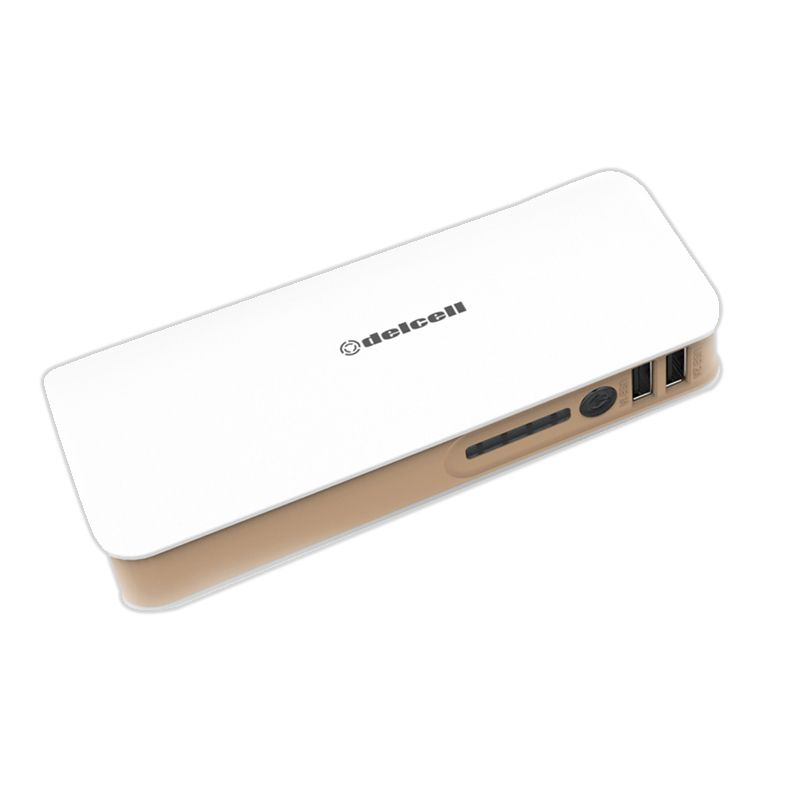 Delcell TURBO Putih Coklat Powerbank [10000mAh]