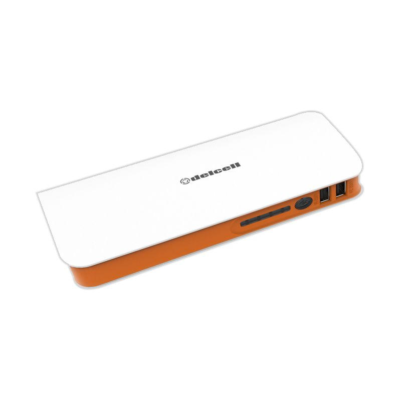 Delcell TURBO Putih Orange Powerbank [10000 mAh]