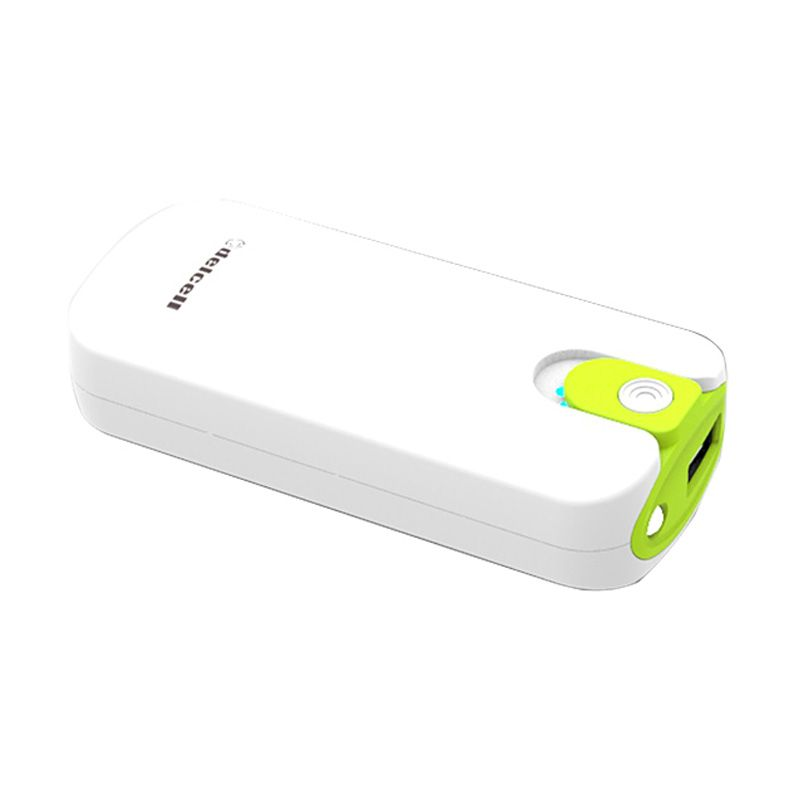 Delcell TWO White Green Powerbank [4000 mAh]