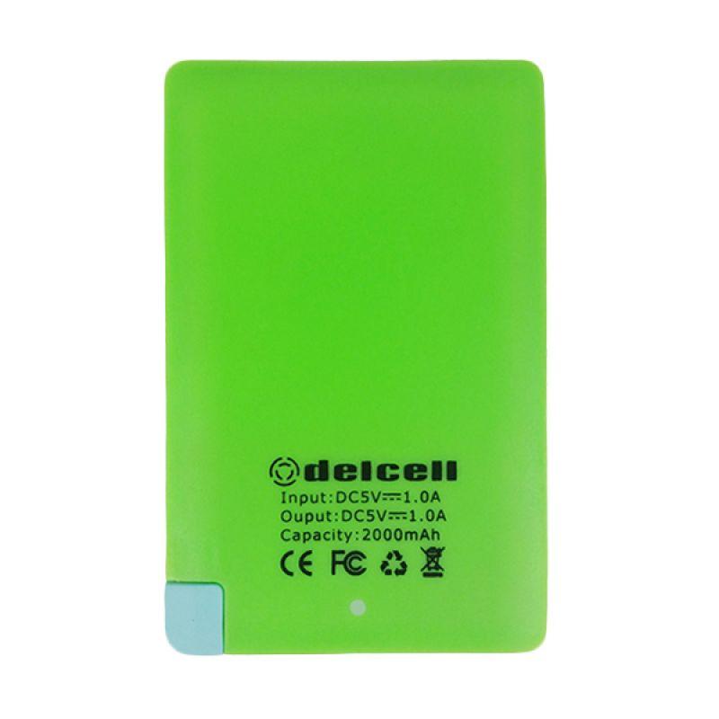Delcell Ultra Thin Hijau Powerbank [2000 mAh]