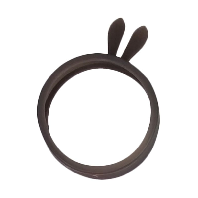 Delcell Universal Rubber Ring Bunny Black Bumper Casing for Smartphone