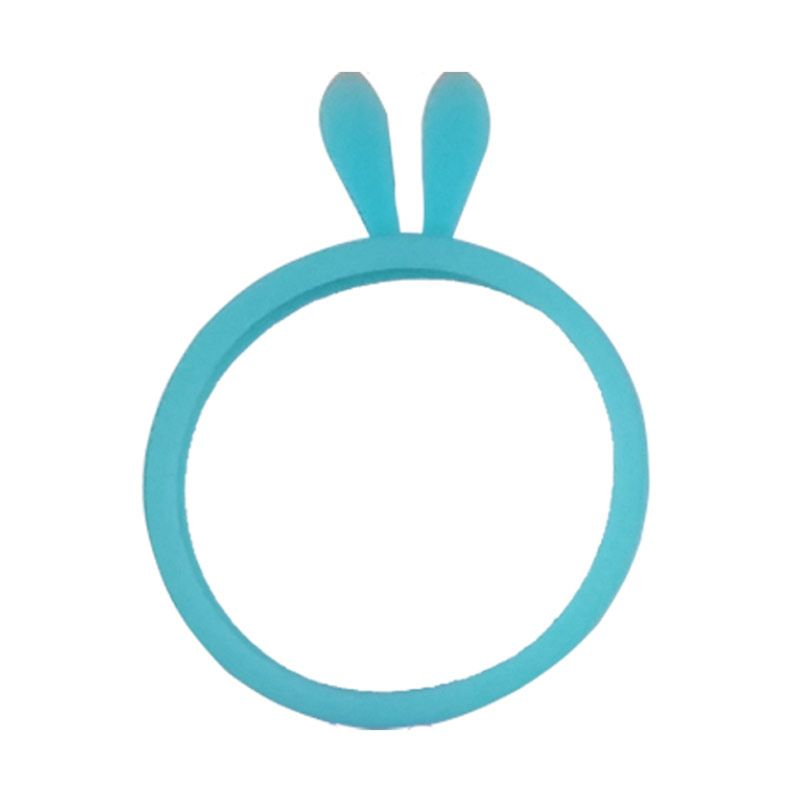 Delcell Universal Rubber Ring Bunny Ear Blue Bumper for Smartphone