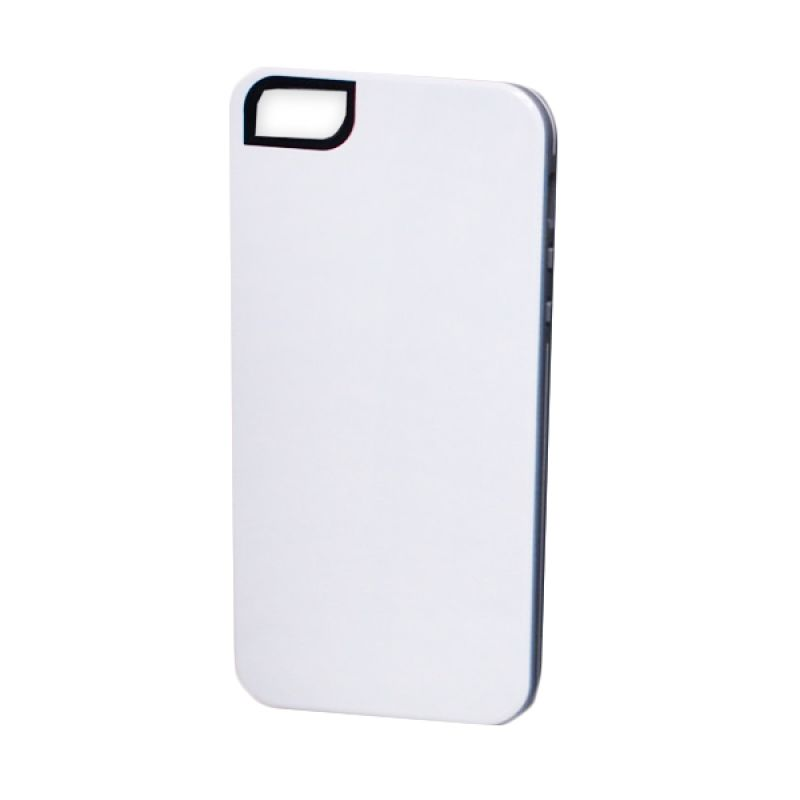 Delcell Back Cover Case Double Colour for iPhone 5 - Putih