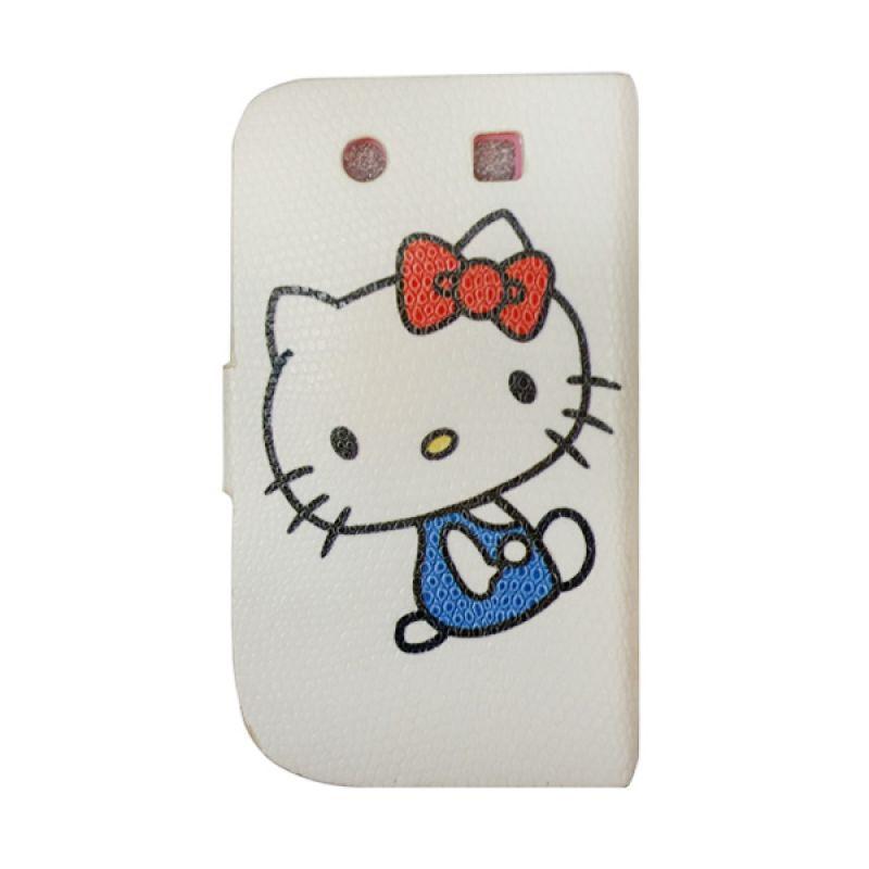 Delcell Wallet Case Hello Kitty For Blackberry Dakota Putih Casing