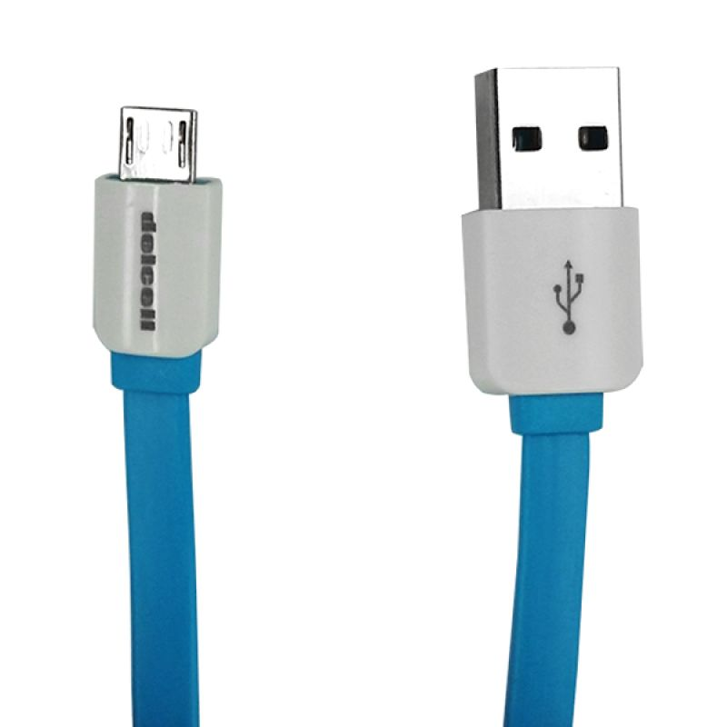 Delcell Zaxti 6th Generation Blue Micro USB Cable [1 m]