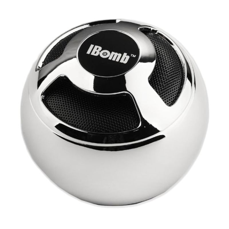 iBomb ThunderBall EX800 Wireless Bluetooth MicroSd Speaker Portable - Silver