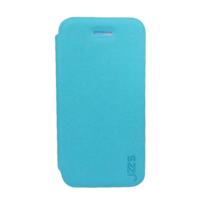 Jzzs Benfeer Flip Cover for iPhone 5C - Biru Muda