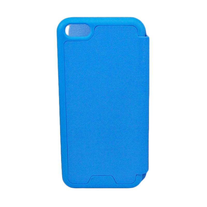 Jzzs Benfeer Flip Cover for iPhone 5C - Biru