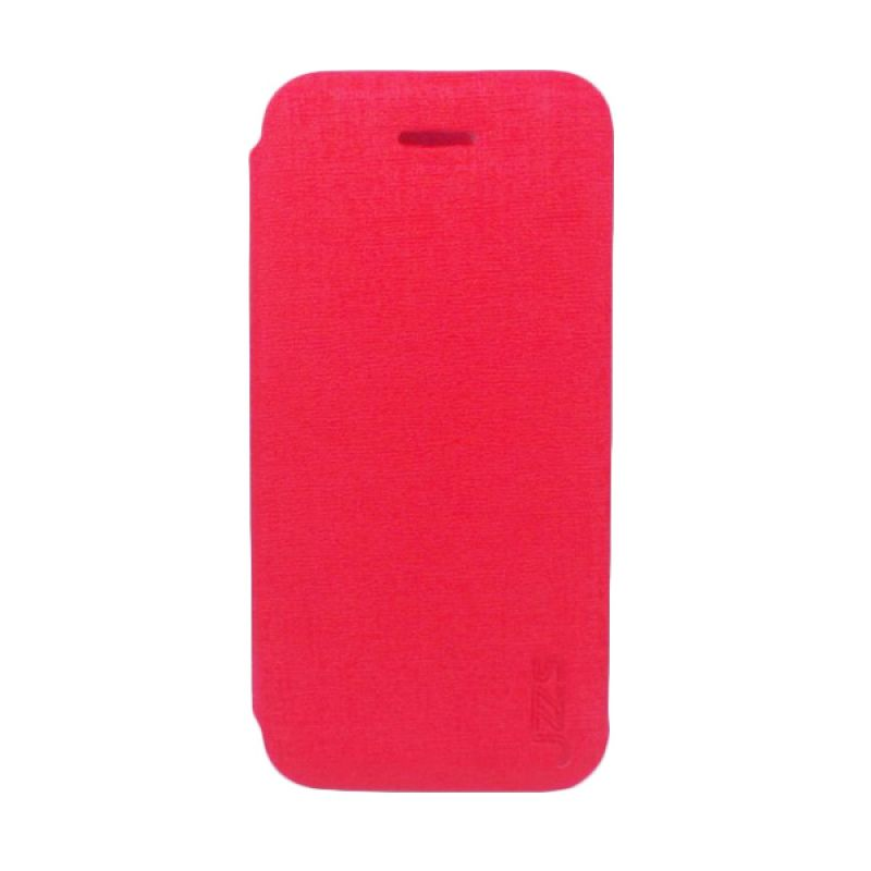 Jzzs Benfeer Flip Cover for iPhone 5C - Merah