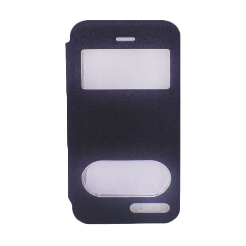 Jzzs Benseer Flip Cover dan Viewer for iPhone 5/5s - Hitam