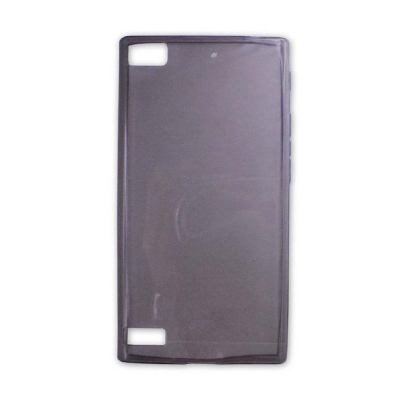 Jzzs Crystal TPU Soft Case Ultra Thin 0.5mm for Blackberry Z3 - Hitam Transparan
