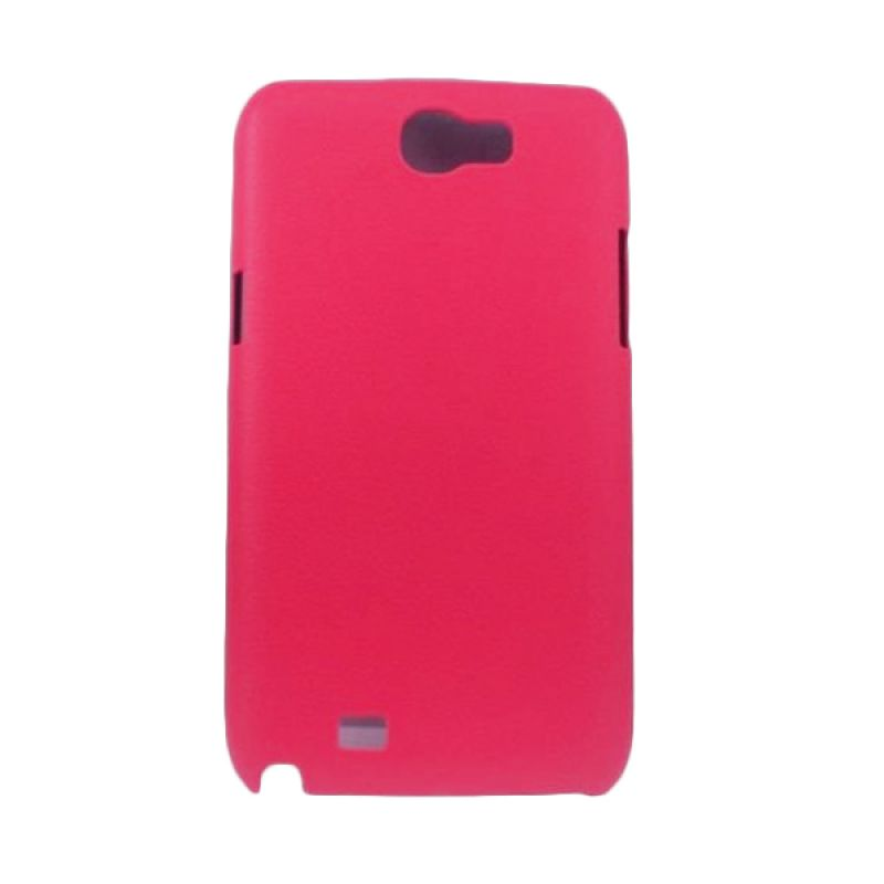 Jzzs Pitu Series Leather Back Cover Case Samsung Galaxy Note II N7100 - Merah Muda