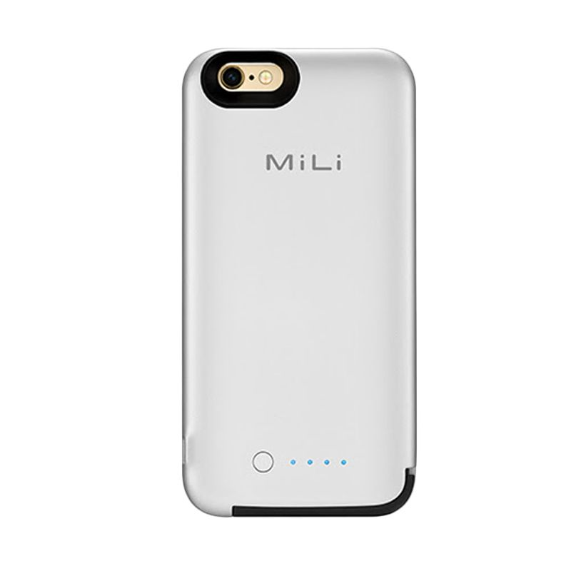 MiLi Spring 6 Silver Casing and Powerbank for iPhone 6 [3500 mAh]