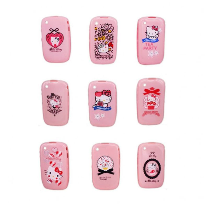 Paket Delcell 9pcs Fashion Case Hello Kitty BB Gemini 1 Seri - P