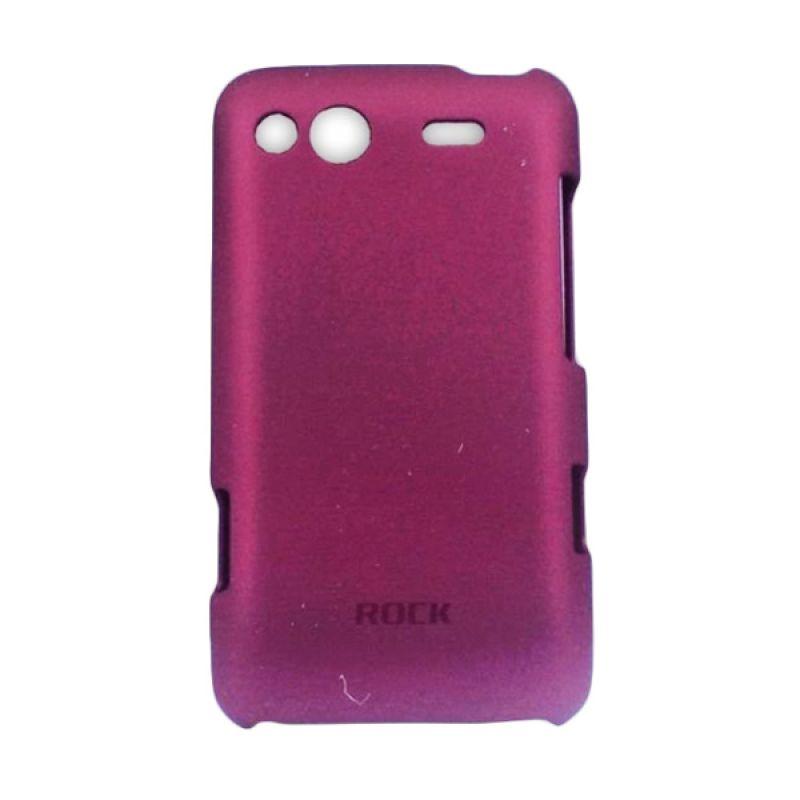 Rock Flip Cover Motif Burberry for iPhone 5 dan 5s - Coklat Muda