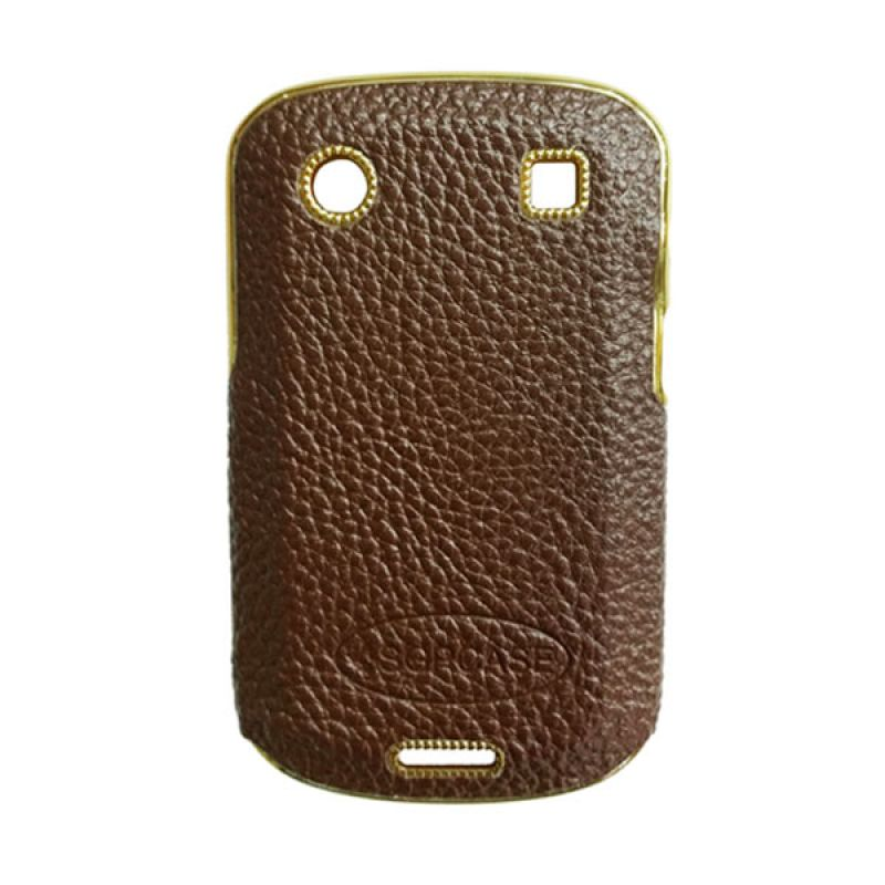 Sgrcase Kulit-Gold for BlackBerry 9930/9900 Coklat Gold