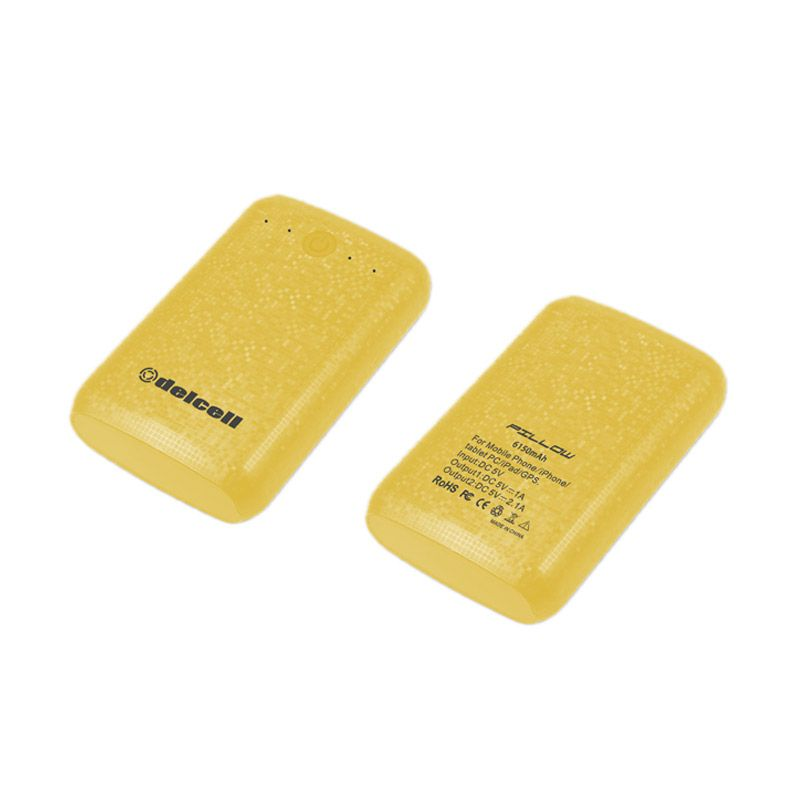 Delcell Pillow Kuning Powerbank [6150 mAh]