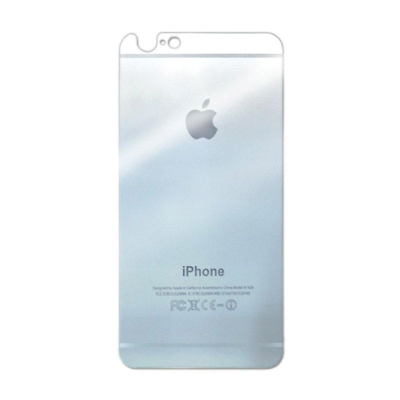 Delcell Silver Tempered Glass Screen Protector for iPhone 5 [Depan Belakang]