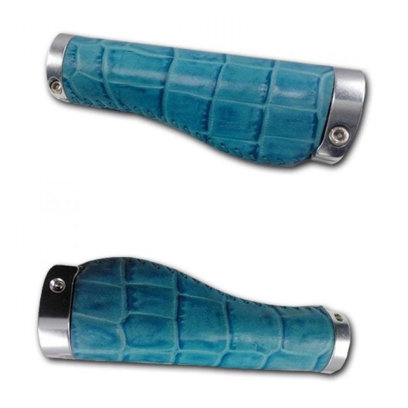 Deltacycles Sobdeall Crocodile LG Blue Handgrip Sepeda
