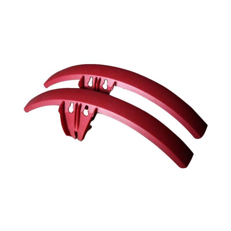 harga DeltaCycles Dark Red Fender untuk Sepeda Strida Blibli.com