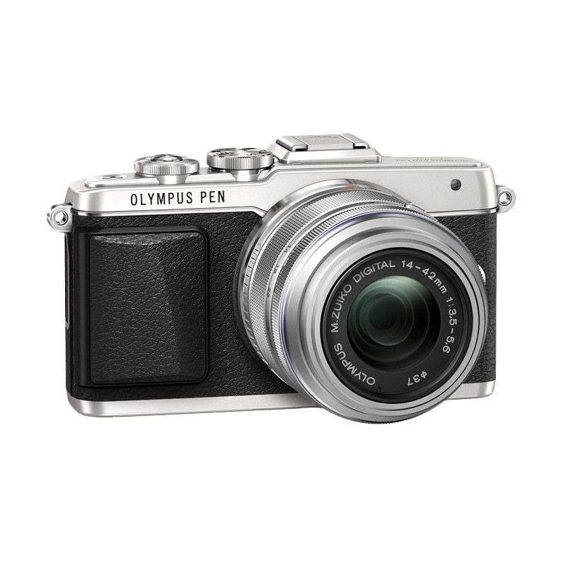 Olympus Pen E-PL7 Kit 14-42mm R Silver Kamera Mirrorless free Lensa fish eye 9mm f8.0