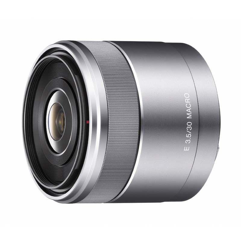Sony E 30mm F3.5 Macro Silver Lensa Kamera