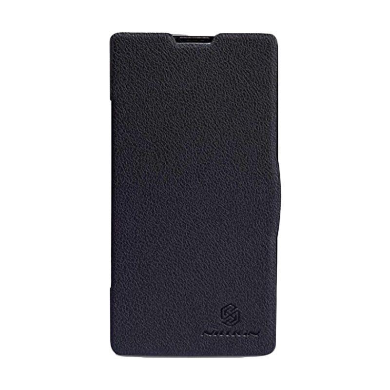 Nillkin Fresh Leather Hitam Flip Cover Casing for Xiaomi Redmi or Redmi 1S