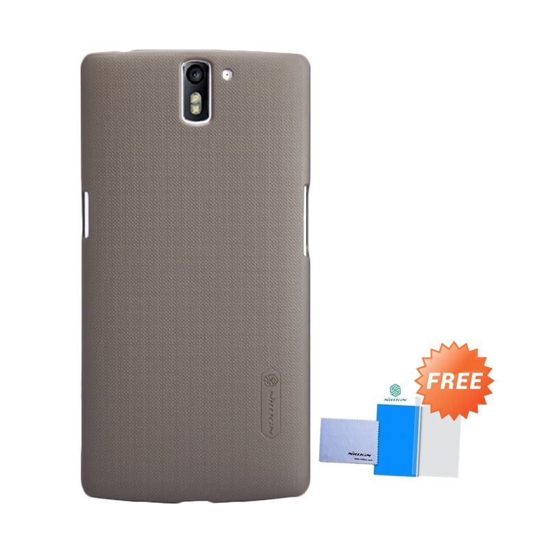 Nillkin Super Frosted Coklat Casing for OnePlus One + Screen Protector