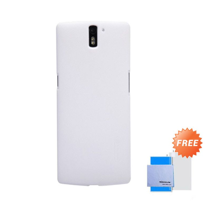 Nillkin Super Frosted Putih Casing for OnePlus One + Screen Protector