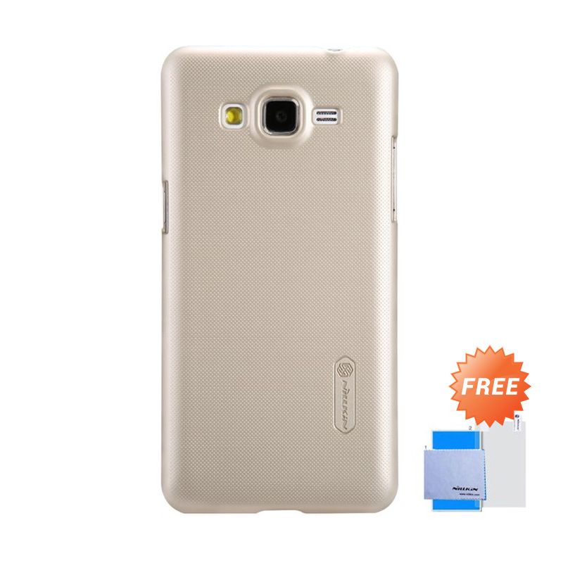 Nillkin Super Frosted Shield Gold Casing for Galaxy Grand Prime + Screen Protector