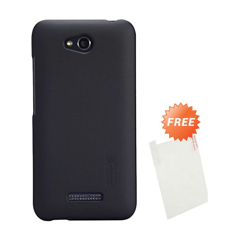 Nillkin Super Frosted Shield Hitam Casing for HTC Desire 616 + Screen Protector