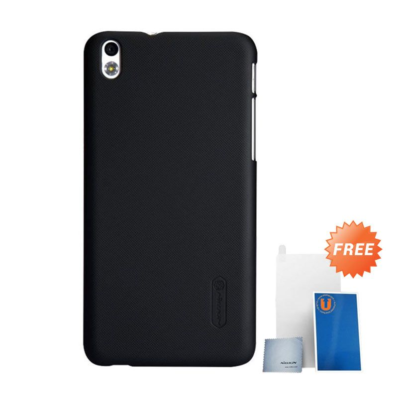 Nillkin Super Frosted Shield Hitam Casing for HTC Desire 816 + Screen Protector