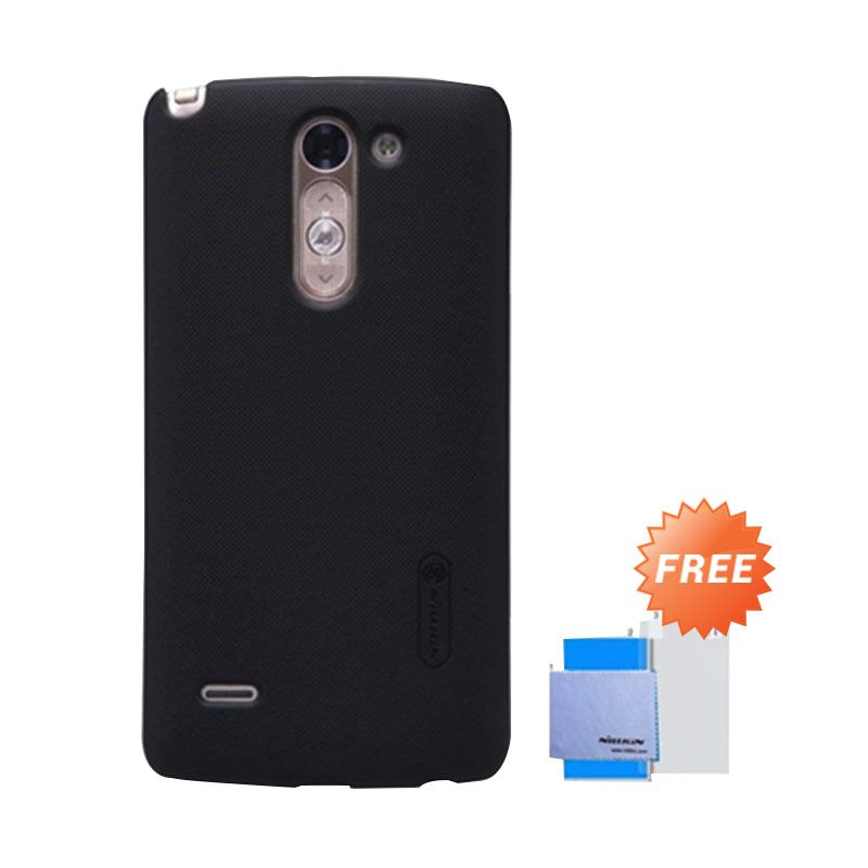 Nillkin Super Frosted Shield Hitam Casing for LG G3 + Screen Protector
