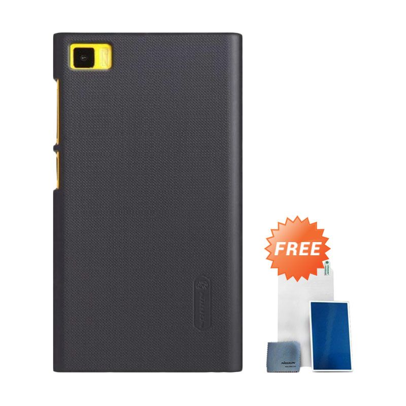 Nillkin Super Frosted Shield Hitam Case Casing for Xiaomi Mi3 or M3 + Screen Protector