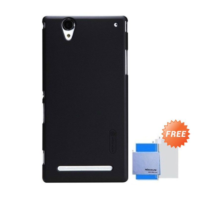Nillkin Super Frosted Shield Hitam Casing for Xperia T2 Ultra + Screen Protector